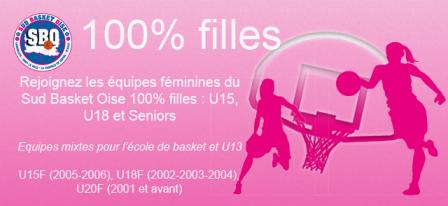 100 filles sud basket oise