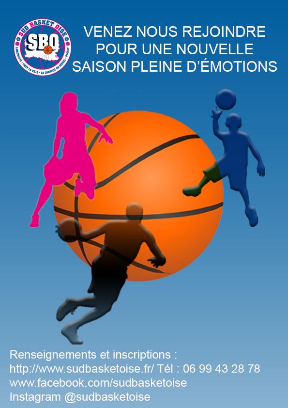 Affiche 2019 2020 sud basket oise