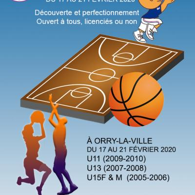 Affiche stage hiver sud basket oise 2020
