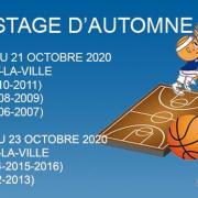 Bandeau nl stage de automne sud basket oise 2020