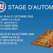 Bandeau stage de automne sud basket oise 2020