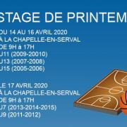 Bandeau stage de printemps sud basket oise 2020