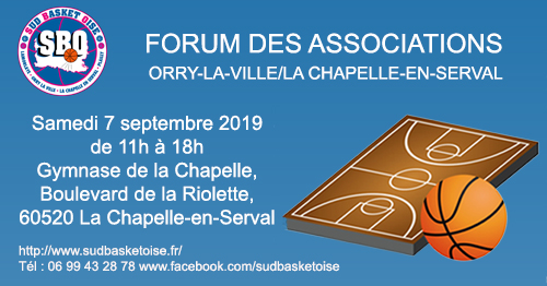 Forum des associations sud basket oise la chapelle orry