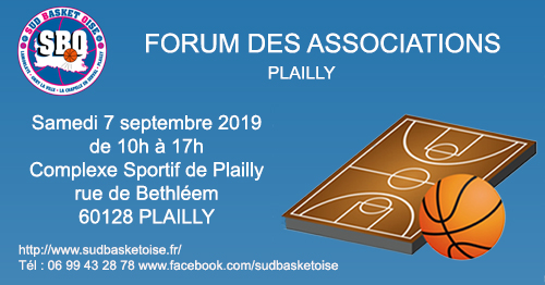 Forum des associations sud basket oise plailly