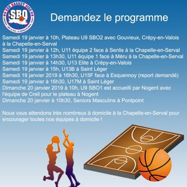 Prochain match Sud Basket Oise