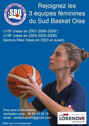 Seniors filles sud basket oise equipe basket feminin basket ball