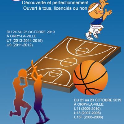 Stage automne 2019 sud basket oise