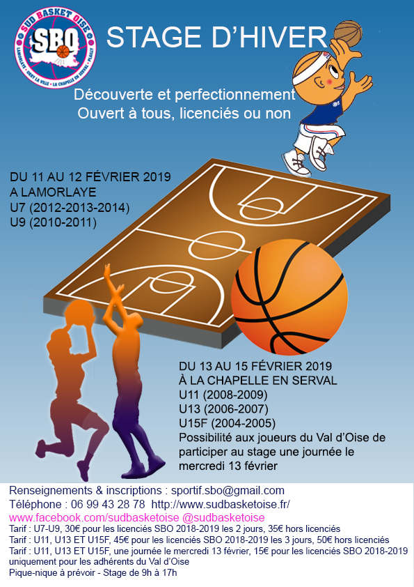 Stage d hiver sud basket oise 1