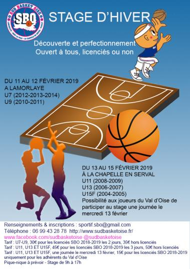 Stage d hiver sud basket oise 1