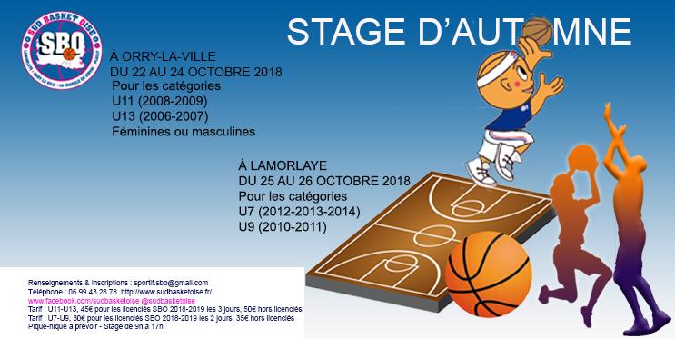 Stage sud basket oise octobre 2018